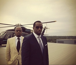 Diddy being all swagger on the Diageo roof