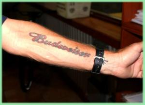 ReverendLovebrew.com - Beer Tattoo Budweiser