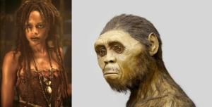 L.: Tituba.  R.: Homo Erectus