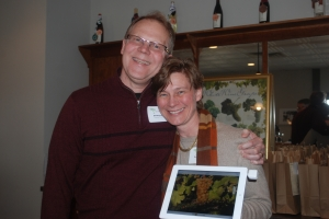 Bill and Susan Braymer, love at vine site.