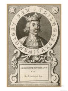 King Childebert II; wine-lover, wop-hater.