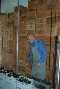 Elie keeps all Champagne a minimum of one year prior to sale.   And yeah, he asks for disgorgement dates.