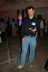 Winemaker Roger Bonga; poor guy thought he had a leg up on the competition