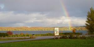 Bel Lago; rainbow