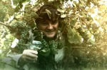 Ed O'Keefe amid  riesling vines
