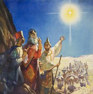 'Whaddya mean he told ME to bring the myrrh??  He told YOU to bring the myrrh, dickhead!'