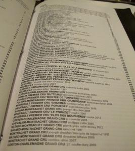 Bâtard's wine list