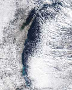 Lake effect piles on snow, but moderates temperature