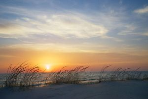 lake-michigan-sunset-with-dune-grass-mary-lee-dereske